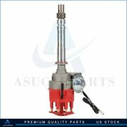 Ignition Distributor With Red Cap Fit For Chevrolet V8 Sbc Bbc 262 265 267 305