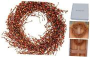 Weston Fall Berry Wreath, 22 Inches, Beautiful White Gift Box Included