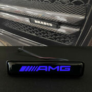Mb G-wagon G63 G55 G500 W463 Abs Plastic Front Grille Badge Blue Led