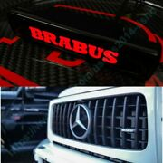 Mb G-wagon G63 G55 G500 W463 Abs Front Grille Badge Red Led