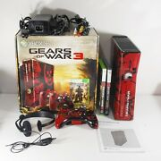 Microsoft Xbox 360 Gears Of War 3 Limited Edition 320gb Console With Box