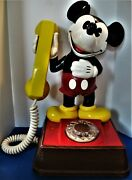 Vintage Walt Disney Productions Plastic Mickey Mouse Dial Telephone
