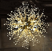 Gdns 8 Pcs Lights Chandeliers Firework Led Vintage Wrought Iron Chandelier Dia