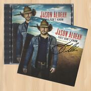 Autographed---- Jason Aldean They Don't Know Signature Cd Lights Come On  0901