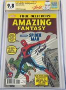 Amazing Fantasy 15 Reprint Signed Stan Lee Cgc 9.8 Ss 1st Spiderman Appearance