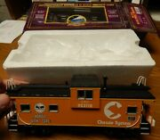 Mth 20-91309 Chessie Extended Vision Caboose Car Used In Box O Scale