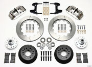 Wilwood Narrow Superlite 6r Front Hub Kit 14.00in Polished For 74-80 Pinto/musta