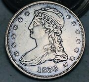 1836 Capped Bust Half Dollar 50c Reeded Edge Key Date Good Silver Us Coin Cc7420