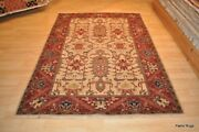 On Sale Fine 5and039x8and039 Fine Quality Rug Handmade Brick Red Beige Green Navy Blue