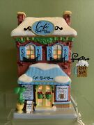 Dept 56 Peanuts Snoopy's Root Beer Cafe 6001194 Lighted Building Nib