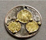 Interesting Love Token Made From A Chile 1 Peso And 3 California Gold Tokens