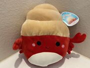 Squishmallow 8 Indie Hermit Crab Kellytoys Summer Squad Nwt Fast Shipping