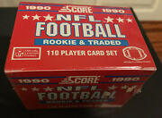1990 Score Football Rookie Traded Supplemental Sealed Set Emmitt Smith Rc M43