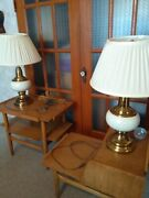 Alsy Maud Mid Century Modern Lighting Vintage Lamps Pair Knockouts best Lamps