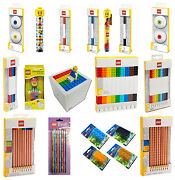 Kids Character Lego Pencil Pen Set Markers Sharpener Brand New Stationery Gift