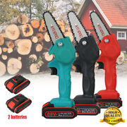 88v Electric Cordless Saw Woodworking Chain Saw Wood Cutter One-hand Mini Us