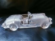 1959 Convertible Chevrolet Corvette Magic Crystal Glass Auto Car Paperweight
