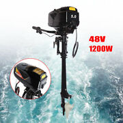 1200w 48v Outboard Motor Boat Electric Engine W/ Muffler For Fishing Boat Us
