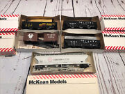 Mckean Ho Scale 4 Assosted Box Cars And One 4 Bay Hopper. Sbd Rio Grande Acfx.