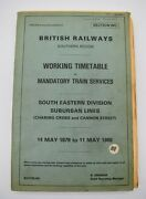 Br Southern Region Railway Working Time Table Mandatory Train Services Wc