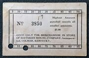 Coal Scrip Token🔥1 Punch Card Southern Mining Co. Colmarky🔥bell County🔥