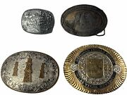 Rare Vintage Rodeo, Cowboy, Oil Rigs And Western Union Telegraph Belt Buckle Lot