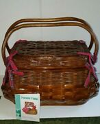 Large Highlander Bombay Picnic Basket With Deluxe Service For Four Picnic Time