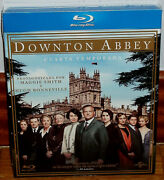 Downton Abbey 4 First Season Complete 4 Blu-ray New Slipcover No Open R2