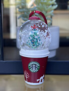 Starbucks 2006 Holiday Snow - Globe Ornament To - Go Cup
