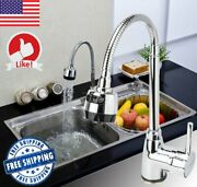 Kitchen Faucet Sink Tap Single Handle Mixer 360anddegswivel Pull Down Out Spout Spray