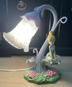 Vintage Disney Tinkerbell Table Lamp 27130 In Very Good Condition