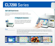 Cas Cl7200w Touch Screen Label Printing Scale 60 Or 30 Lb X 0.02 Lb New
