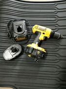 Dewalt Dc970 18-volt 1/2 Cordless Drill Driver With Battery And Charger -works