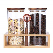 Kkc Home Accents Airtight Glass Coffee Bean Storage Containerglass Storage Jars