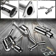 4.5 Dual Roll Muffler Tip Exhaust Catback System For 00-09 S2000 Base/cr Dohc