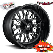 Fuel Off-road D611 Size 22x12 8x6.5 Offset -44mm Gloss Black Milled Set Of 4