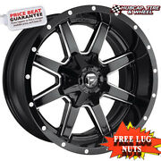 Fuel Off-road D610 22x10 5x5.5/150 Offset 10mm Gloss Black Milled Set Of 4