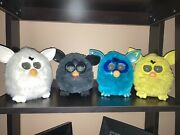 4 Electronic Interactive Furby's Black, White, Teal And Yellow