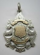Sterling Silver Antique English Watch Fob Colville And Excelsior Country Club