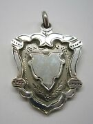 Antique 1938 Sterling Silver English Watch Fob Not Engraved Blank