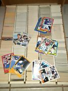 Large Lot Of 100's Of Baseball Cards Fleer Tops 88-92