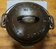 Griswold No. 6 Cast Iron Tite-top Dutch Oven 2605 And Lid 2606a