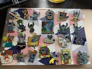 New Disney Trading Pins 37 Lot, Rare And Vintage, All Stitch Free First Class Ship