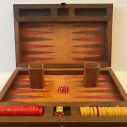 Beautiful Vintage Red And Yellow Butter Scotch Bakelite Backgammon Swirl Chips
