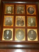9 1/6 Plate Daguerreotype All Wearing Glasses - Hanging Wall Frame