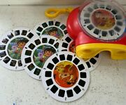 2002 Fisher Price Viewmaster 3 3d - Dora The Explorer 3 Reels Disney Lion King