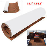 95and039and039x35and039and039 Marine Boat Flooring Eva Foam Synthetic Teak Decking Sheet Carpet Pad