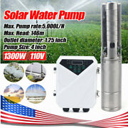 4 Dc 110v Solar Power Water Pump 1300w Submersible Mppt Controller 5000l/h New