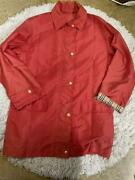 Burberrys Red Spring Coat 38 Size M