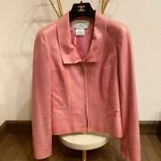 Pink Leather Jacket 34 Size Xsss